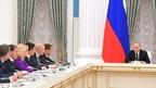 Совещание Президента России Владимира Путина с новым составом Правительства
