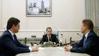Встреча Дмитрия Медведева с Министром энергетики Александром Новаком и председателем правления ОАО «Газпром» Алексеем Миллером