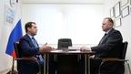 Рабочая встреча Дмитрия Медведева с губернатором Калининградской области Николаем Цукановым