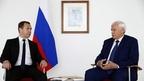 Встреча Дмитрия Медведева с губернатором Санкт-Петербурга Георгием Полтавченко