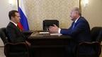Встреча Дмитрия Медведева с губернатором Камчатского края Владимиром Илюхиным