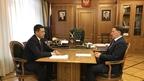 Алексей Гордеев встретился с губернатором Псковской области Михаилом Ведерниковым
