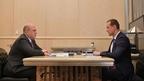 Встреча Михаила Мишустина с руководителем Федеральной службы государственной регистрации, кадастра и картографии Олегом Скуфинским