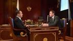 Встреча Дмитрия Медведева с председателем правления АО «Россельхозбанк» Дмитрием Патрушевым