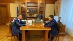 Рабочая встреча Александра Новака с губернатором Мурманской области Андреем Чибисом