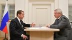 Встреча Дмитрия Медведева с губернатором Ростовской области Василием Голубевым