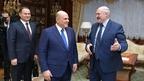 Беседа Михаила Мишустина с Президентом Республики Беларусь Александром  Лукашенко  и Премьер-министром Республики Беларусь Романом Головченко