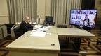 Михаил Мишустин и члены Правительства приняли участие в совещании у Президента с главами регионов по борьбе с распространением коронавируса в России