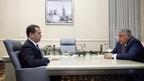 Встреча Дмитрия Медведева с президентом Национального исследовательского центра «Курчатовский институт» Михаилом Ковальчуком