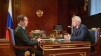 Встреча Дмитрия Медведева с главой Республики Карелия Артуром Парфенчиковым