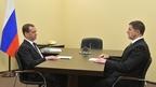 Встреча Дмитрия Медведева с Михаилом Осеевским, представленным на должность президента ПАО «Ростелеком»