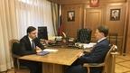 Алексей Гордеев провёл рабочую встречу с губернатором Орловской области Андреем Клычковым