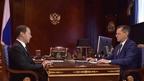 Встреча Дмитрия Медведева с губернатором Астраханской области Александром Жилкиным