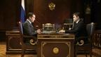 Встреча Дмитрия Медведева с губернатором Ивановской области Станиславом Воскресенским