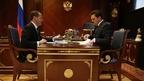 Дмитрий Медведев встретился с генеральным директором «Почты России» Николаем Подгузовым