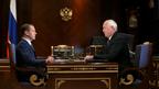 Встреча Дмитрия Медведева с генеральным директором госкорпорации «Ростех» Сергеем Чемезовым