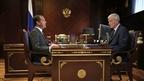 Встреча Дмитрия Медведева с руководителем Федеральной службы по финансовому мониторингу Юрием Чиханчиным