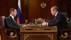 Встреча Дмитрия Медведева с генеральным директором ПАО «Совкомфлот» Сергеем Франком