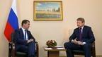 Рабочая встреча Дмитрия Медведева с губернатором Краснодарского края Александром Ткачёвым