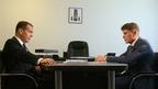 Встреча Дмитрия Медведева с губернатором Сахалинской области Олегом Кожемяко