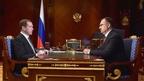 Встреча Дмитрия Медведева с председателем правления Пенсионного фонда Антоном Дроздовым