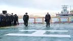 Михаил Мишустин принял участие в церемонии приёмки головного универсального атомного ледокола «Арктика»