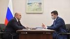 Беседа Михаила Мишустина с губернатором Калининградской области Антоном Алихановым