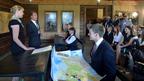 Дмитрий Медведев посетил урок для учащихся школ Рязанской области в музее-заповеднике С.А.Есенина