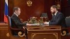 Встреча Дмитрия Медведева с руководителем Федерального агентства по делам национальностей Игорем Бариновым