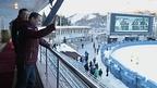 Дмитрий Медведев и Премьер-министр Казахстана Бакытжан Сагинтаев присутствовали на первом финале чемпионата мира по мотогонкам на льду в Алма-Ате