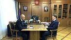 Алексей Гордеев встретился с временно исполняющим обязанности главы администрации Липецкой области Игорем Артамоновым