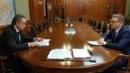 Виталий Мутко встретился с временно исполняющим обязанности губернатора Челябинской области Алексеем Текслером