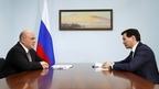 Встреча Михаила Мишустина с главой Республики Калмыкия Бату Хасиковым