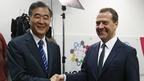Беседа Дмитрия Медведева с вице-премьером Госсовета Китайской Народной Республики Ван Яном