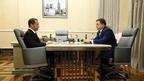 Встреча Дмитрия Медведева с руководителем временной администрации ПАО «Промсвязьбанк» Петром Фрадковым