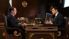 Встреча Дмитрия Медведева с губернатором Калининградской области Антоном Алихановым