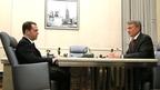 Встреча Дмитрия Медведева с президентом, председателем правления ПАО «Сбербанк России» Германом Грефом