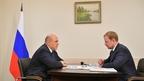 Беседа Михаила Мишустина с губернатором Алтайского края Виктором Томенко
