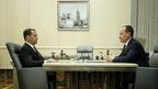 Встреча Дмитрия Медведева с председателем правления, генеральным директором ПАО «Россети» Павлом Ливинским