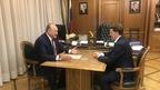 Алексей Гордеев провёл рабочую встречу с губернатором Камчатского края Владимиром Илюхиным