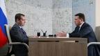 Встреча Дмитрия Медведева с губернатором Московской области Андреем Воробьёвым