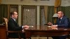 Встреча Дмитрия Медведева с временно исполняющим обязанности губернатора Сахалинской области Валерием Лимаренко