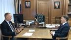 Встреча Алексея Гордеева с президентом Российской ассоциации производителей специализированной техники и оборудования Константином Бабкиным