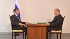Встреча Дмитрия Медведева с временно исполняющим обязанности главы Республики Адыгея Муратом Кумпиловым