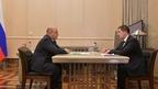 Встреча Михаила Мишустина с президентом ПАО «Ростелеком» Михаилом Осеевским