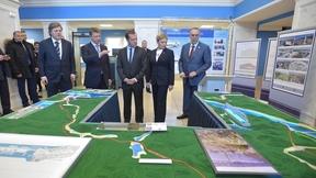 Во время осмотра проектов развития портовой инфраструктуры севера России