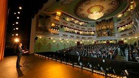 Выступление на концерте по случаю открытия нового здания Марийского государственного театра оперы и балета имени Эрика Сапаева