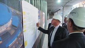 Дмитрий Чернышенко  осмотрел строительство многофункциональной ледовой арены