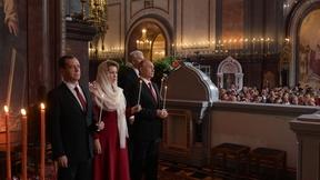 Торжественное богослужение по случаю праздника Пасхи в храме Христа Спасителя