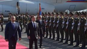 Визит Дмитрия Медведева в Армению. Церемония официальной встречи